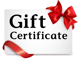 Gift Certificate $100 $250 $500